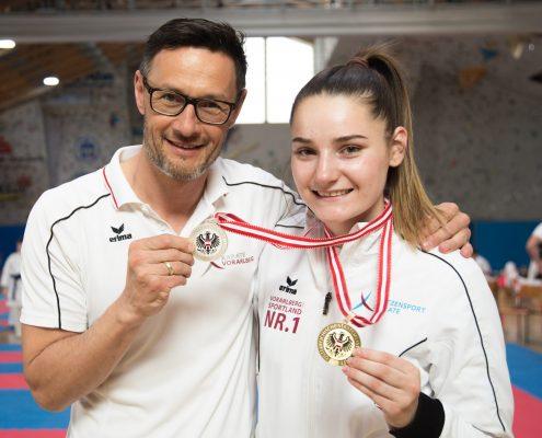 Österreichische Staatsmeisterschaft 2018 KARATE HOFSTEIG Karate Vorarlberg Kata Kumite Marijana Maksimovic Gerhard Grafoner