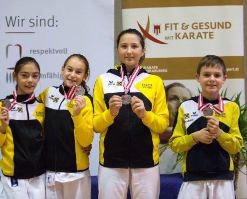 KARATE HOFSTEIG ASKÖ Bundesmeisterschaft 2018 Lustenau Karate Kata Antonia Veits Kathalina Grafoner Michelle Flecker Johannes Vogel