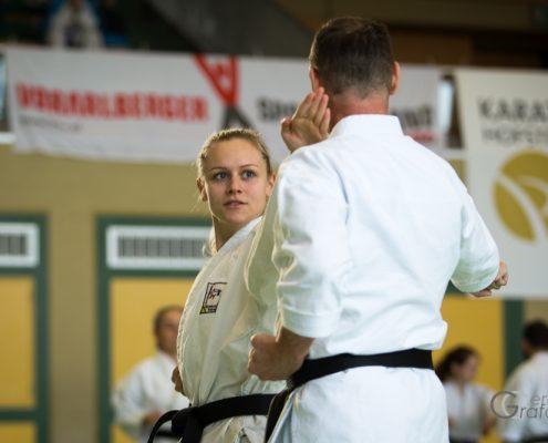 KARATE HOFSTEIG Karate Lehrgang Silvio Campari 2018 Lauterach Robin Sarina Pfeifer