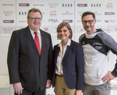 AUSTRIAN KARATE CHAMPIONSCUP 2019 Hard Christian Reiter Barbara Schöbi-Fink Gerhard Grafoner KARATE VORARLBERG KARATE HOFSTEIG