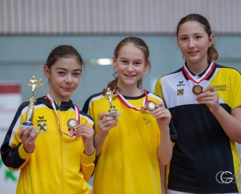 KARATE HOFSTEIG Nicki Cup 2019 KARATE VORARLBERG Kathalina Grafoner Antonia Veits Michelle Flecker