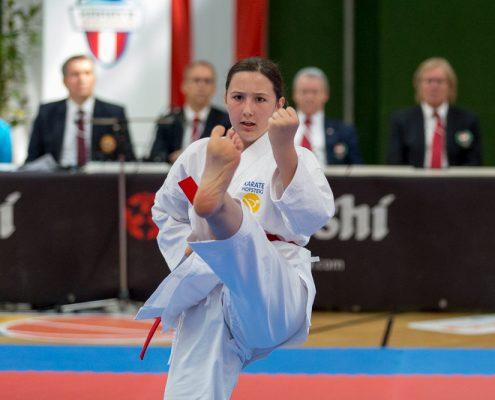 Österreichische Nachwuchsmeisterschaft 2019 Fürstenfeld KARATE HOFSTEIG Michelle Flecker