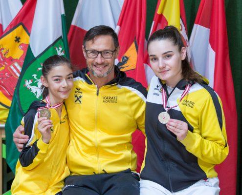 Österreichische Nachwuchsmeisterschaft 2019 Fürstenfeld KARATE HOFSTEIG Kathalina Grafoner Geri Grafoner Marijana Maksimovic